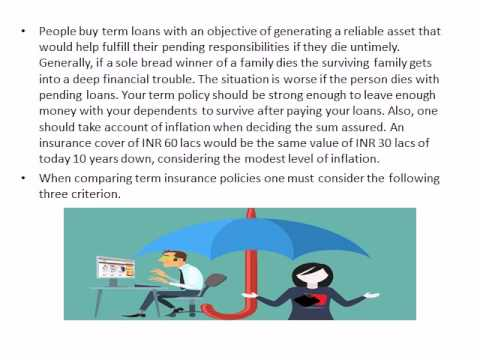Deciding the Right Term Insurance for You