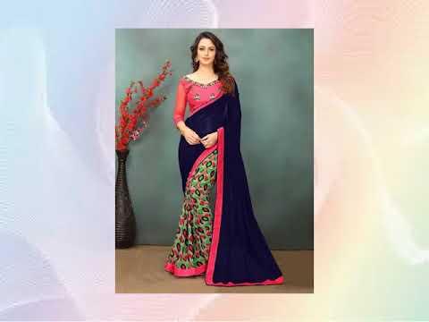 Branded Printed Silk Saree