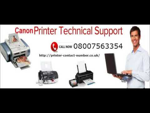 Canon Printer Support Number UK 08007563354