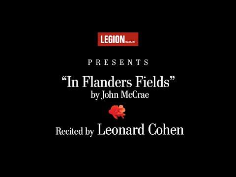 "Leonard Cohen recites ""In Flanders Fields"" by John McCrae   Legion Magazine"