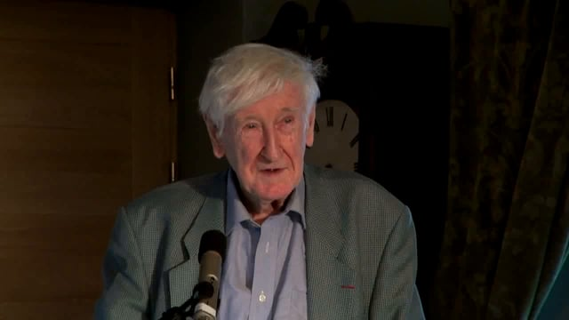 Poetry reading by John Montague at Claregalway Castle - 4th July 2015