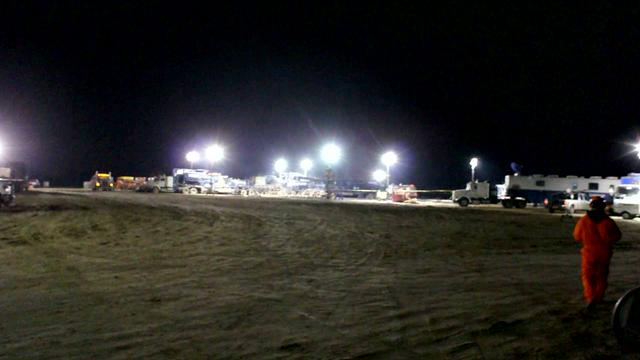 Hydraulic Fracturing of a Conoco Phillips Well Near Gillett, TX 12-13-2011
