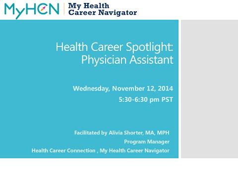 Health Career Spotlight:  Physician Assistant