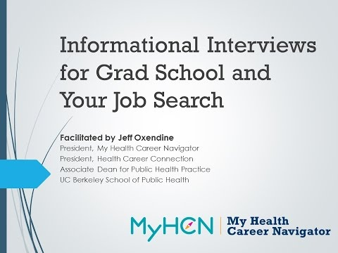 Informational Interviews for Grad School and Your Job Search