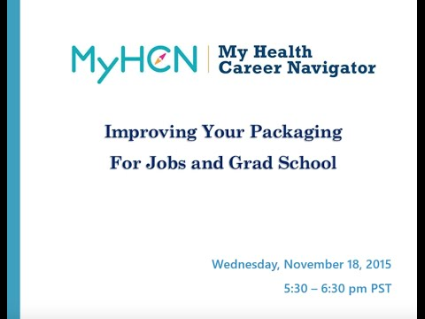 Improving Your Packaging for Jobs or Grad School