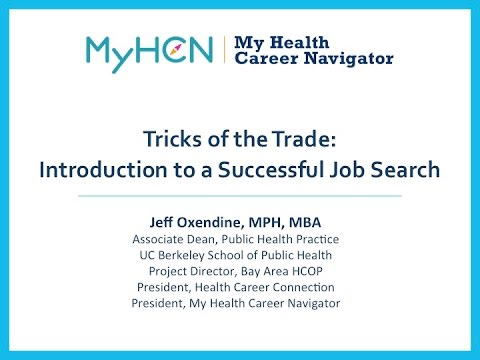 Tricks of the Trade: Introduction to a Successful Job Search