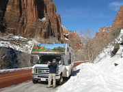 Zion with snow - amazing!