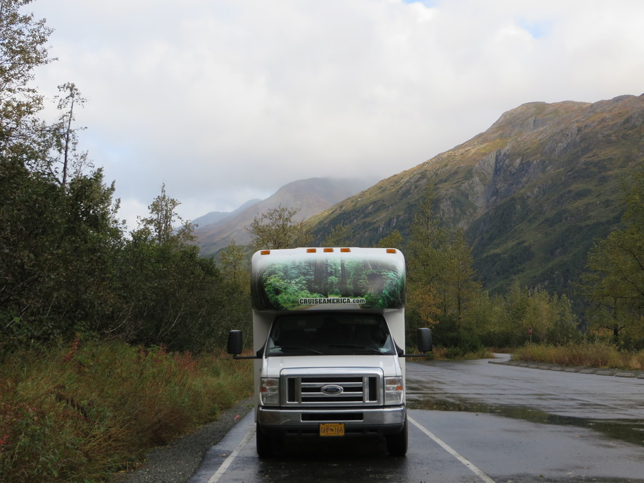 On the road in Alaska