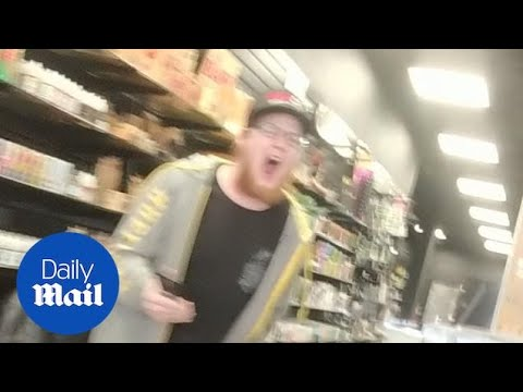 Vape shop worker LOSES IT and refuses to serve Trump supporter!