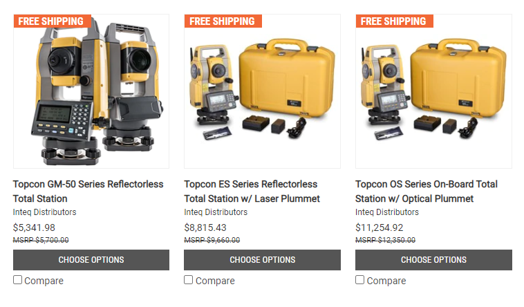 Total Stations - Survey Supply