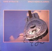 Dire Straits Mark Knopfler Signed Brothers In Arms Album