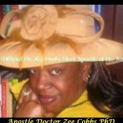 Lady Apostle Dr. Zee Cobbs, Phd