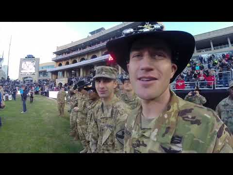 Armed Forces Bowl 2018 pre-game jump
