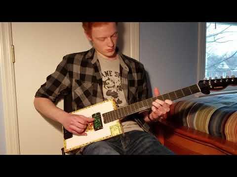 C.Baron 6 String Solid Body Cigar Box Guitar Demo