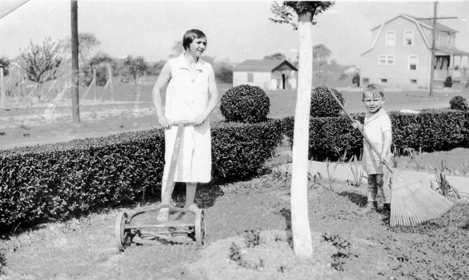 My mom Elsie Hilger, around 1930 at 9 Wilson Ave, Milltown.