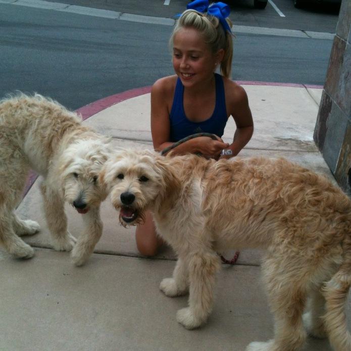 Kathy Acacia and 2 pups