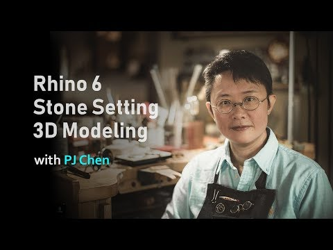 Rhino 6 Jewelry Design Stone Setting 3D Modeling Online Course
