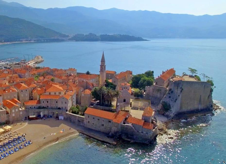 Budva, Montenegro where the son squanders his money.