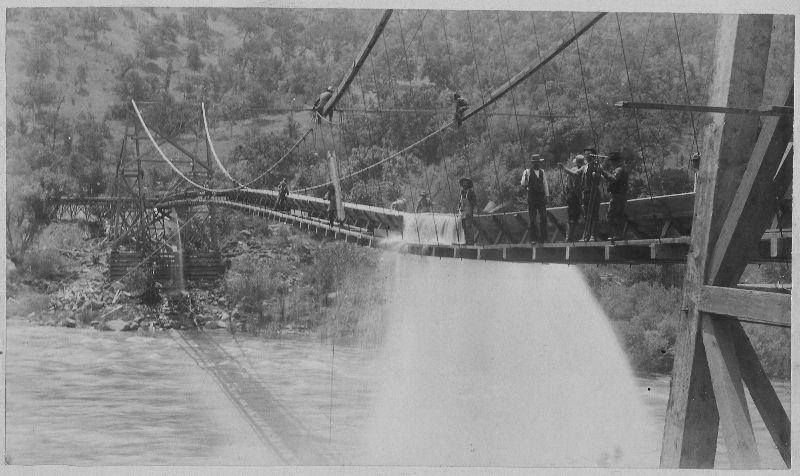 1900s Survey Crew On Logging Flume