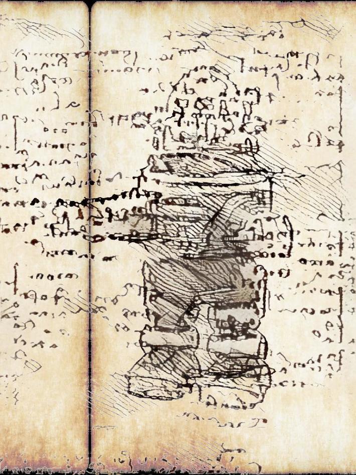 Leonardo's lost sketchbook. 4. Robby the robot