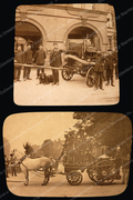 Hornsey Fire Brigade at Hornsey Fire Station with their Horse-drawn Fire Engine, c1900