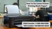 Solution For Canon Printer Printing Blank Pages Error | Call +1-888-480-0288