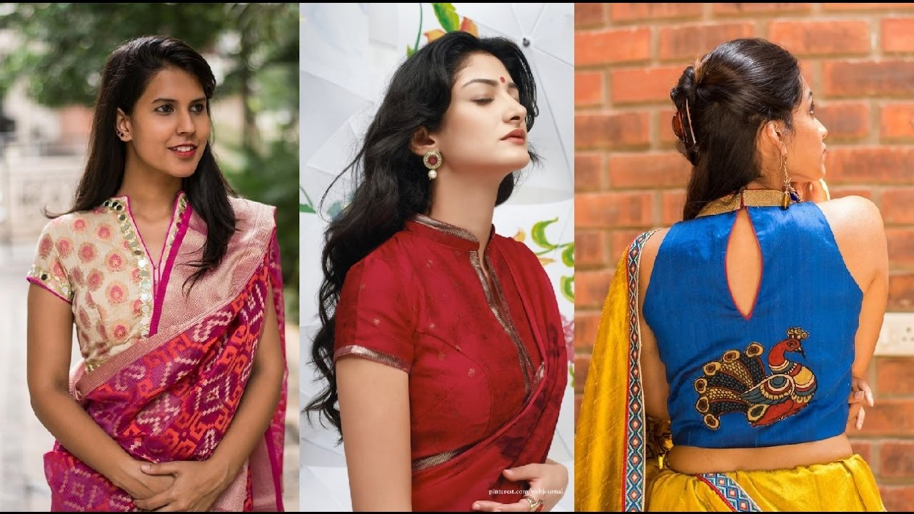 Stand Collar Neck Designs For Blouse : The ideal designer blouses for u cdesi girlsu d fashion industry