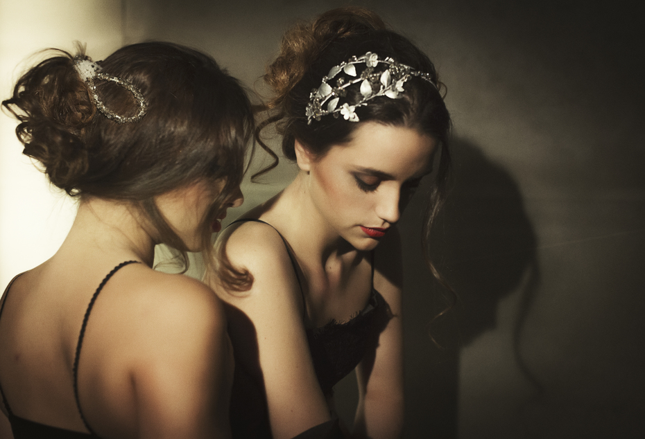 isalubella Silver Emma headband