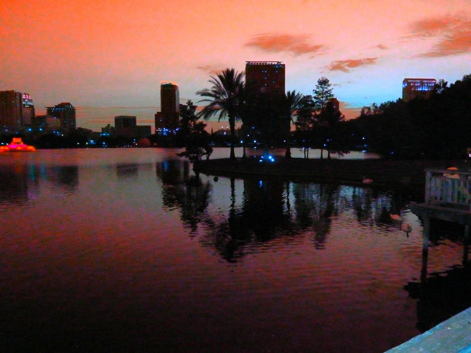 Color Study,Lake Eola..