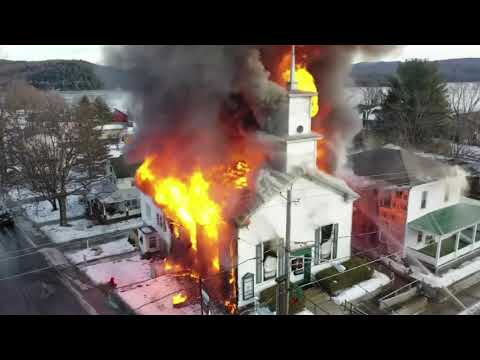 Fire Destroys Historic Upstate New York Church