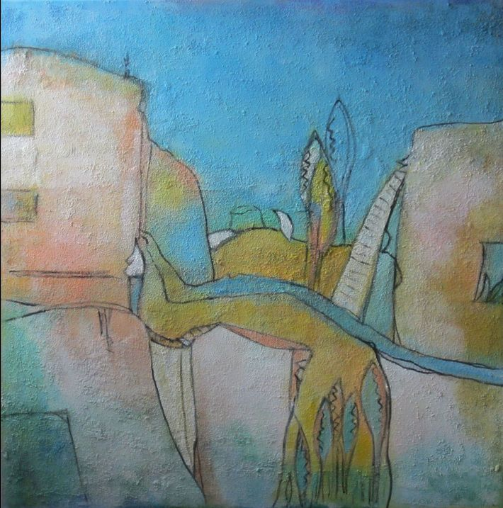 IMG_0013 Ländliche Idylle 100 x 100 cm