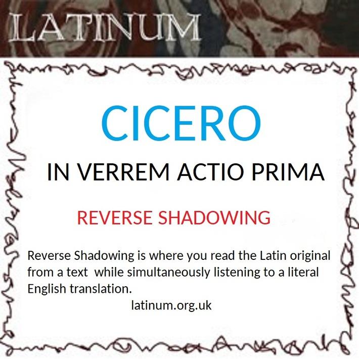 Cicero In Verrem Shadowing
