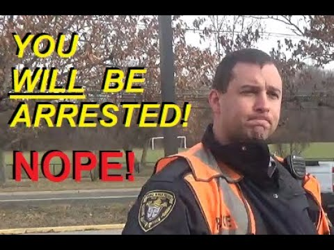 You WILL be Arrested! Officer Moschella #369 Toms River Police