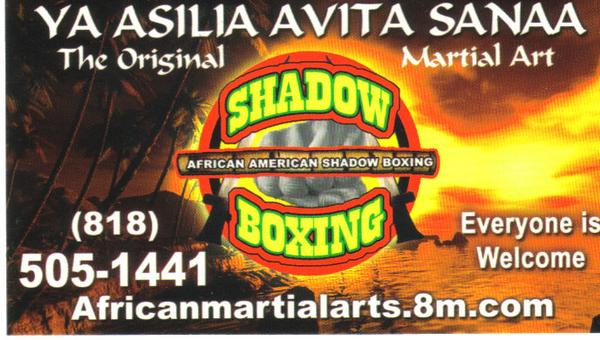 africanamerican shadowboxing
