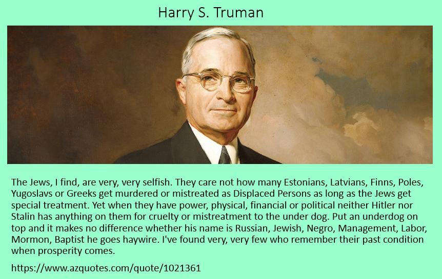 Harry S Truman on Underdogs