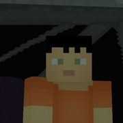 Fran as minecrafter