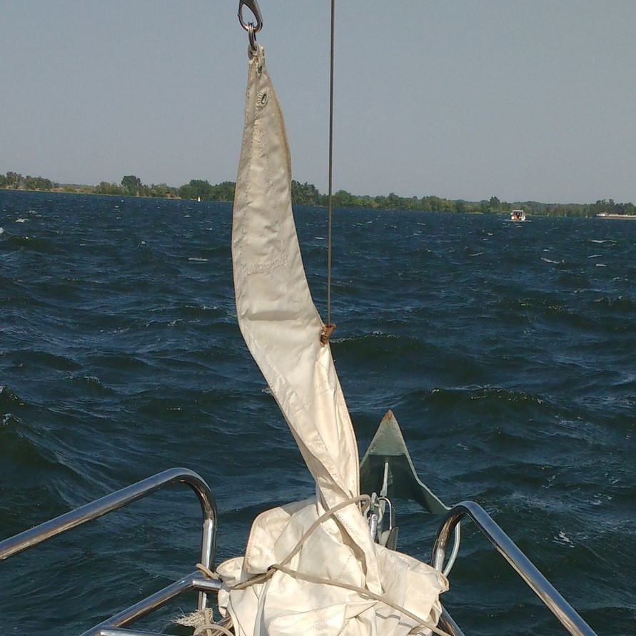My sailboat with just installed electric drive