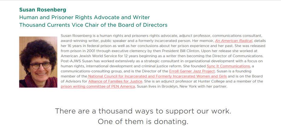 Susan Rosenberg Raises Funds For Black Lives Matter