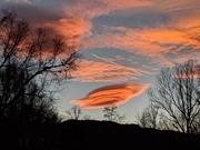 Boulder foothills sunset, lenticular cloud, Jan. 4, 2019
