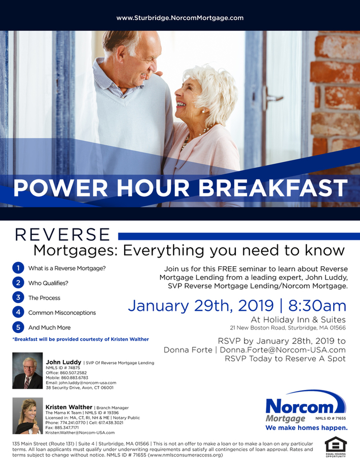 Reverse Mortgage Lending Power Hour Breakfast Seminar