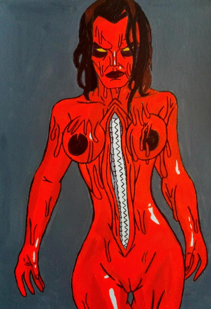 "dDebbie Rochon as ""Mutant"" Slime Head Alice from Slime City Massacre"