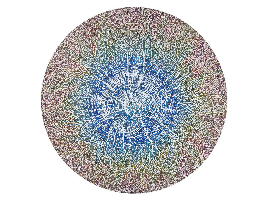 Croissance, Acrylique sur toile, diamètre 120cm