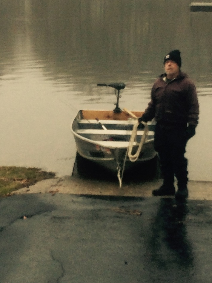 Greg and Boat Ready for open Water January Fishing
