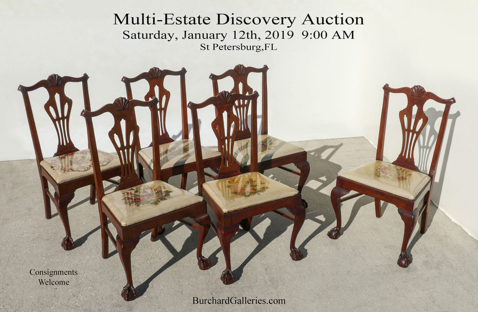 Fine Carved Centennial Chippendale Chairs