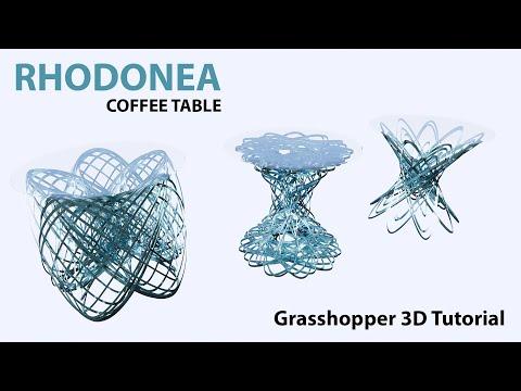 Computational coffee table Rhodonea in Grasshopper3d