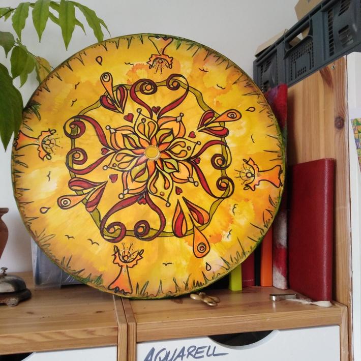 Mandala auf Radfelge