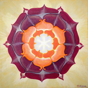 Yoga Yantra painted by Vesna