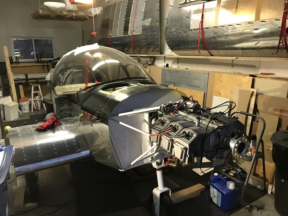 engine in place for the first time