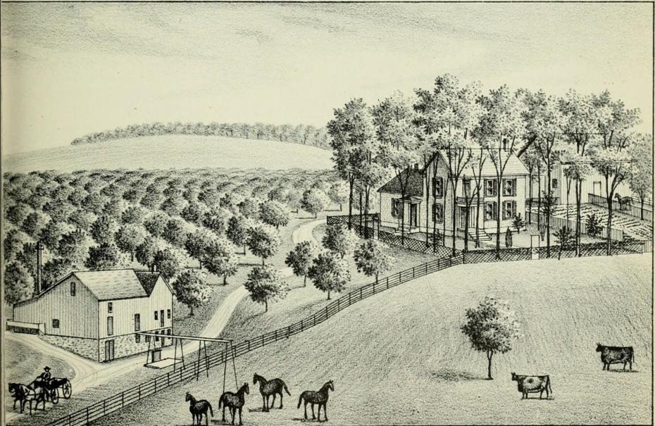 RESIDENCE OF DR. J. R. DOUGLASS, BATCHTOWN. ILL.