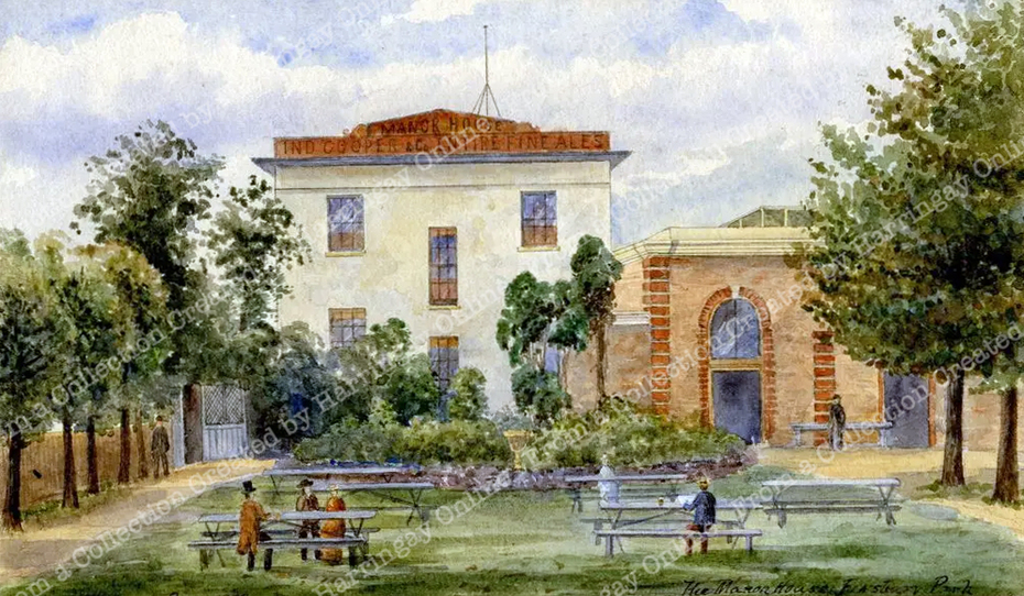 Garden of Manor House Tavern, 1883